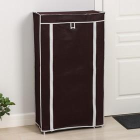 Полка для обуви, 6 яруса, 60×28×105 см, цвет кофейный - фото 4642949