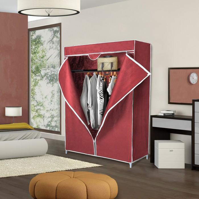 Шкаф для одежды 90х45х145 см, цвет бордовый