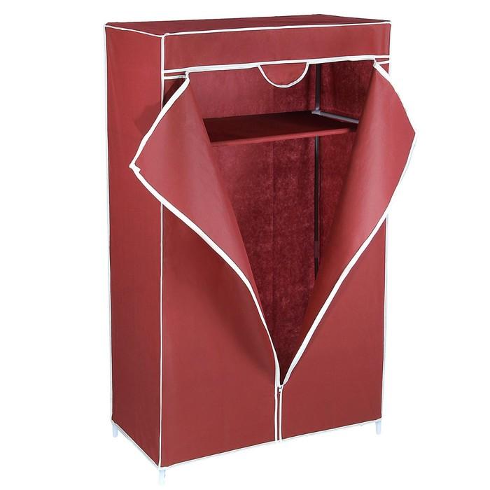 Шкаф для одежды, 75×45×145 см, цвет бордовый - фото 1583652