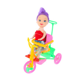 Кукла малышка «Валентина» на велосипеде, МИКС