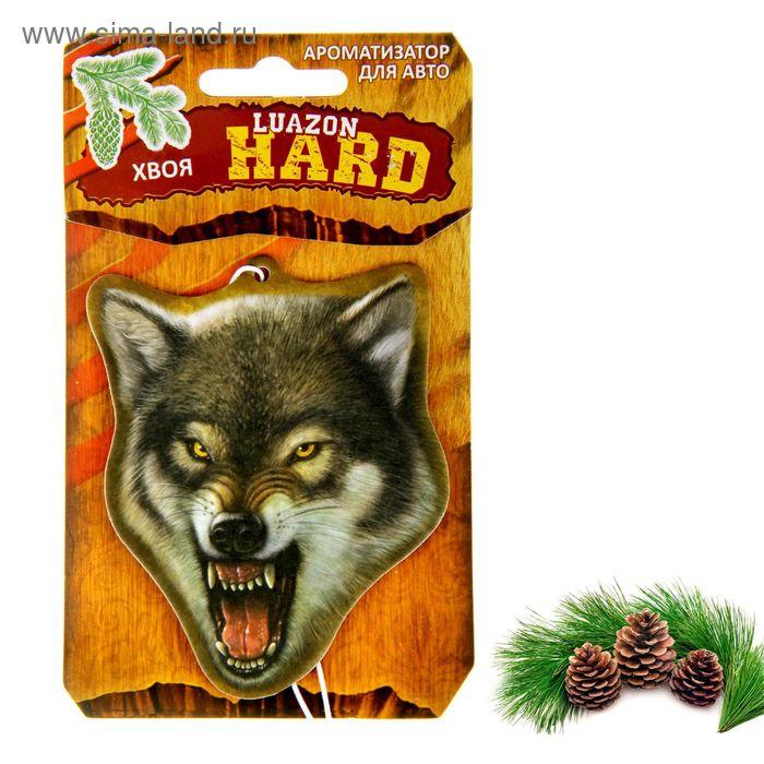 """Ароматизатор для авто Luazon Hard """"Волк"""", аромат хвойного леса"""