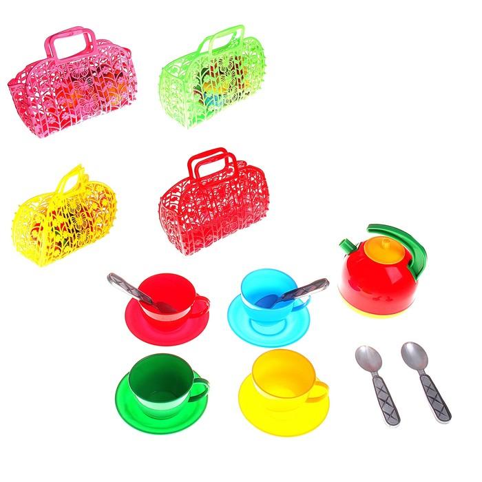 Набор посуды в сумке, 13 предметов, МИКС