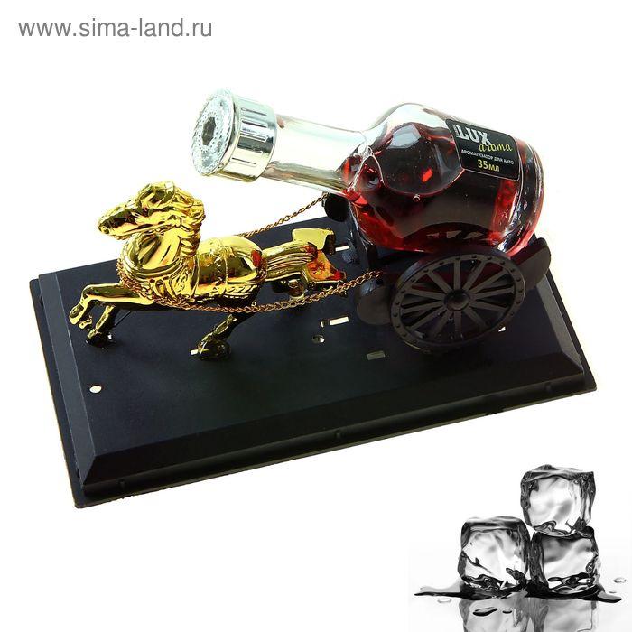 Ароматизатор для авто Luazon Lux Aroma, аромат черный лед
