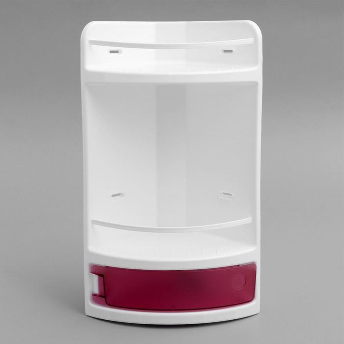 Полка для ванной угловая, цвет розовый