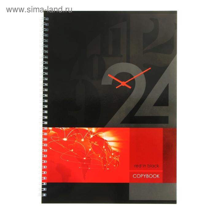 Тетрадь А4, 80 листов клетка на гребне Office Time-1 глянцевая ламинация