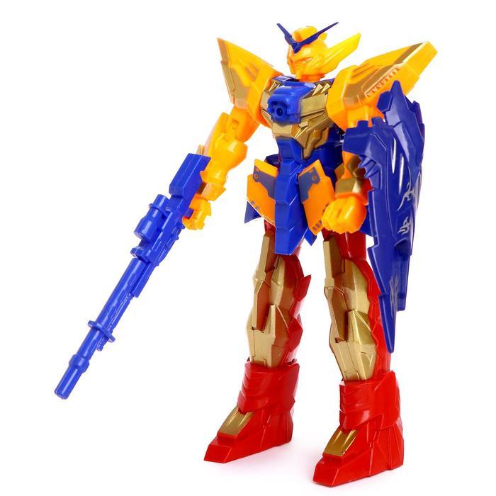 """Робот """"Защитник"""", световые и звуковые эффекты, работает от батареек, цвета МИКС"""