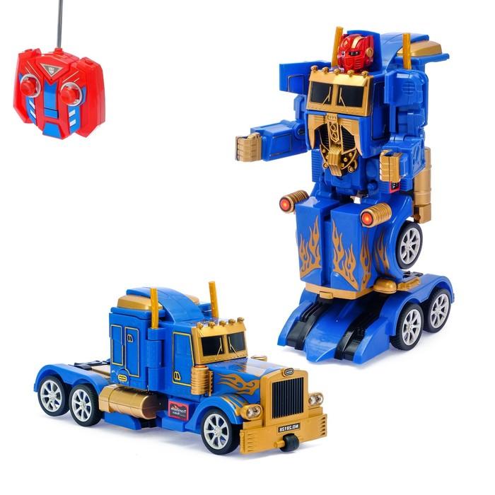 Робот-трансформер «Грузовик», радиоуправляемый, работает от аккумулятора