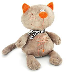 Мягкая игрушка «Кот Батон», цвет серый, 30 см