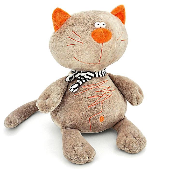 Мягкая игрушка «Кот Батон», цвет серый, 30 см - фото 106534659