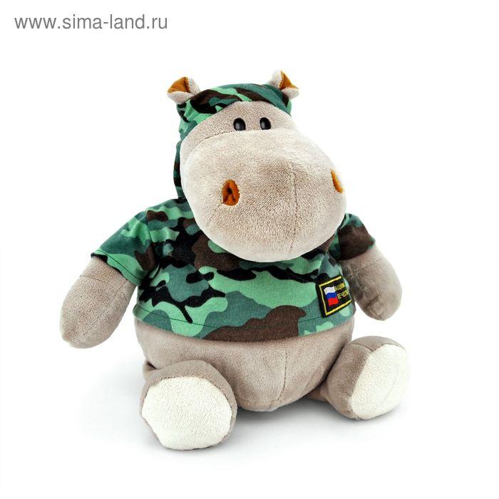 """Мягкая игрушка """"Бегемот-военный"""""""