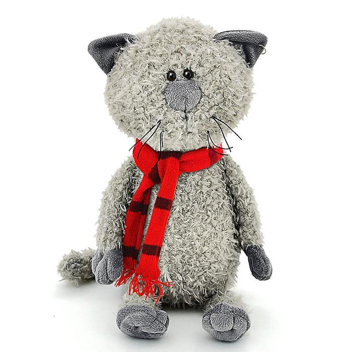 Мягкая игрушка «Кот Обормот» в шарфике, 20 см