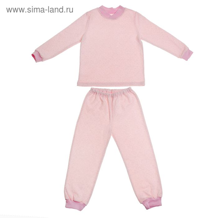 Пижама теплая для девочки, рост 134 см, цвет розовый