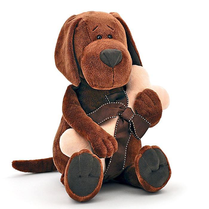 Мягкая игрушка «Пёс Барбоська» с косточкой, 25 см
