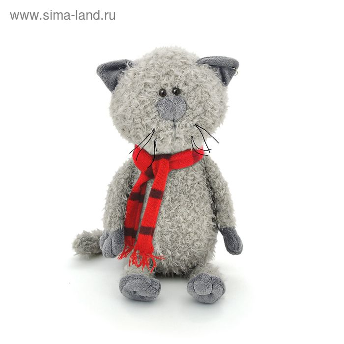 Мягкая игрушка «Кот Обормот в шарфике»
