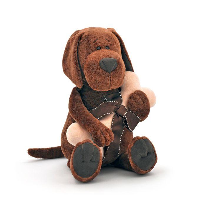 Мягкая игрушка «Пёс Барбоська» с косточкой, 30 см
