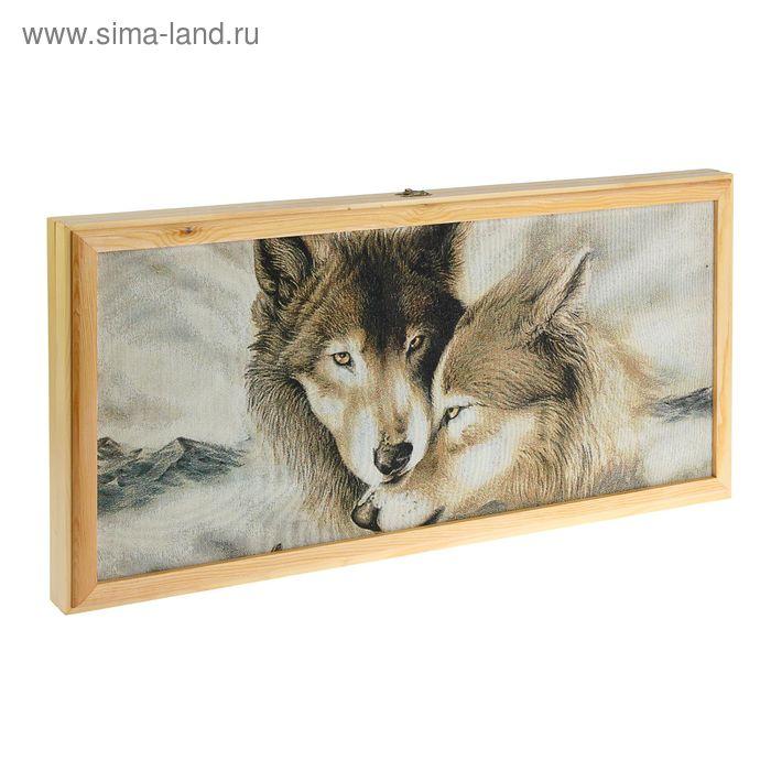 Нарды деревянные 30*60 Два волка. под гравировку