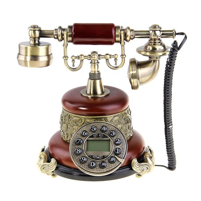 """Телефон ретро с объемным диском на фигурных ножках с """"Грифонами"""""""