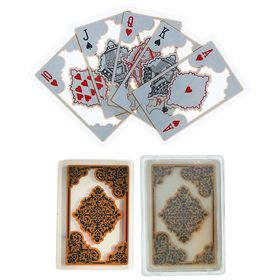 """Карты игральные пластиковые """"Арабика"""", 54 шт, 28 мкм, 8.8×5.7 см, микс"""