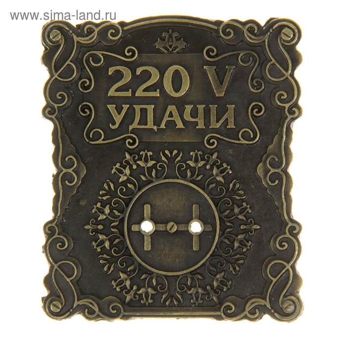 """Оберег счастливая розетка """"220 V удачи"""""""