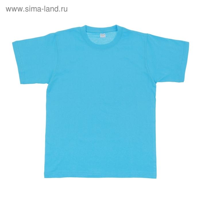 Футболка мужская Collorista, размер S (44), цвет голубой
