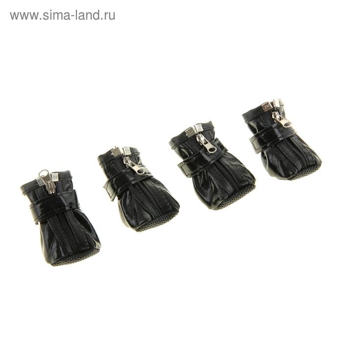 Ботинки Комфорт, набор 4 шт, размер 2 (подошва 5 х 4 см), черные