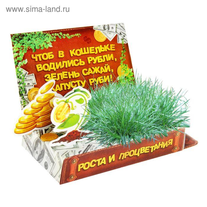 """Открытка-растущая трава """"Роста и процветания"""""""