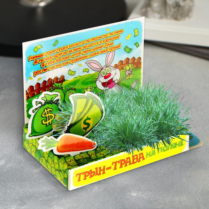 "Открытка-растущая трава ""Трын-трава"""