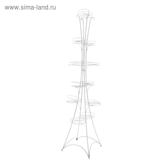 """Подставка для цветов """"Стелла-11"""", белое серебро d=19 см"""