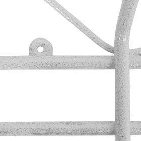 Вешалка настенная на 4 крючка «Ажур», 48×21×8 см, цвет белое серебро - фото 4642310