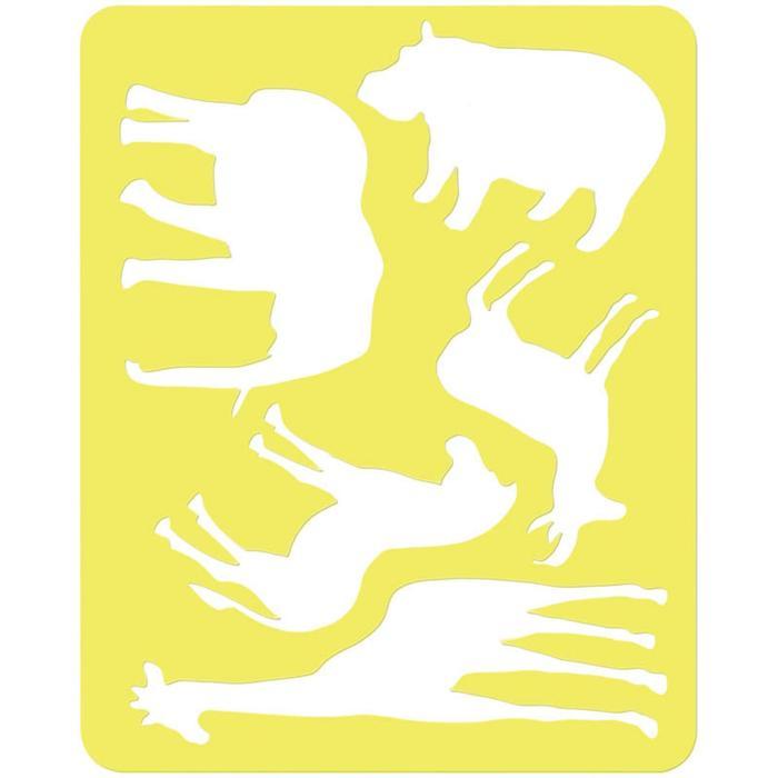 """Трафарет для рисования """"Животные Африки"""", европодвес"""