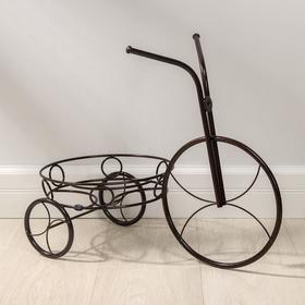 """Подставка для цветов d=23,5 см """"Велосипед"""", цвет медный антик"""