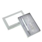 Набор подарочный 2в1 в блистере (ручка+ браслет Завитушки) хром 8*12см