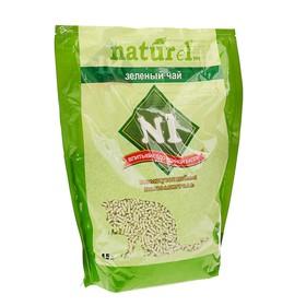 Наполнитель комкующийся '№1 NATUReL 'Зеленый чай', 4,5 л Ош