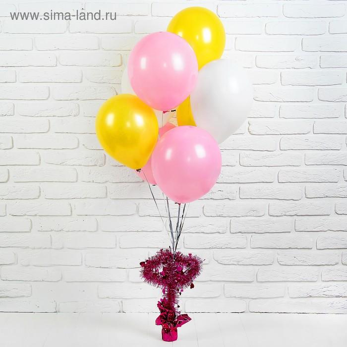 """Грузик для шаров """"Два сердца"""", цвета МИКС"""