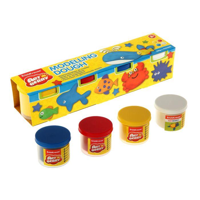 Пластилин на растительной основе набор 4 цвета по 100г Modelling Dough №1