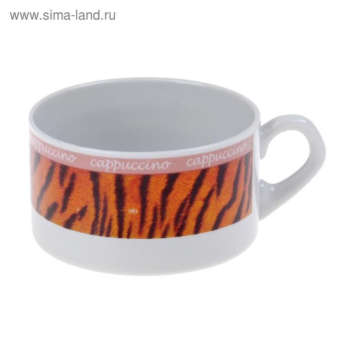 "Чашка фарфоровая 230 мл ""Европейка. Капучино. Тигр"""