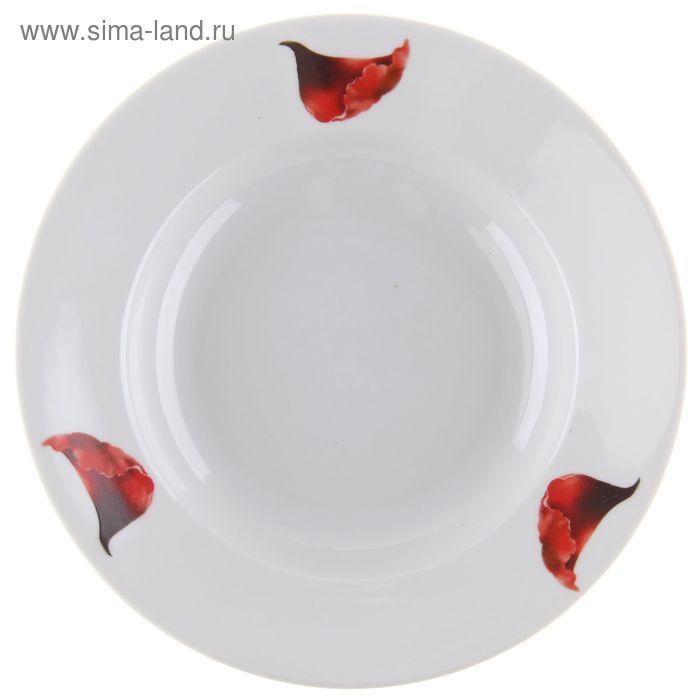 "Тарелка суповая 200 мм ""Маков цвет"""