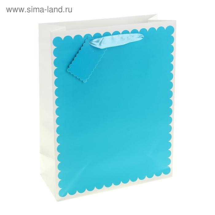 """Пакет ламинированный """"Ажур"""", цвет голубой"""