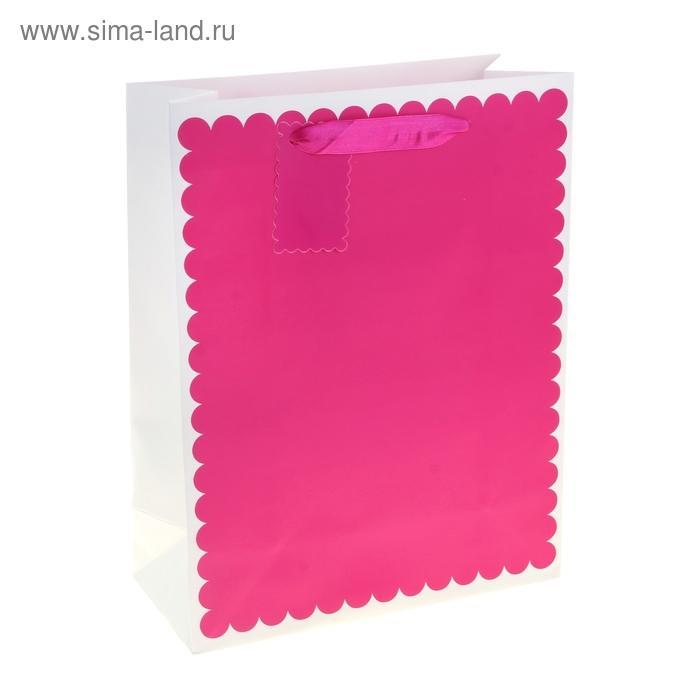 """Пакет ламинированный """"Ажур"""", цвет малиновый"""