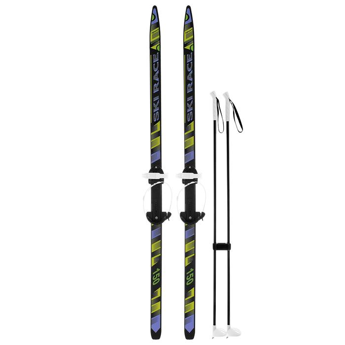 """Лыжи подростковые """"Ski Race"""" с палками (150/110 см), микс"""