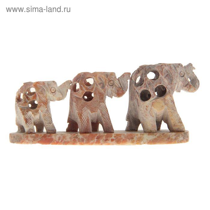 """Сувенир """"Три слона"""" из камня"""