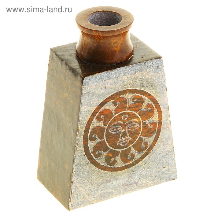 "Диффузор из камня для благовоний ""Солнце"" в форме трапеции"