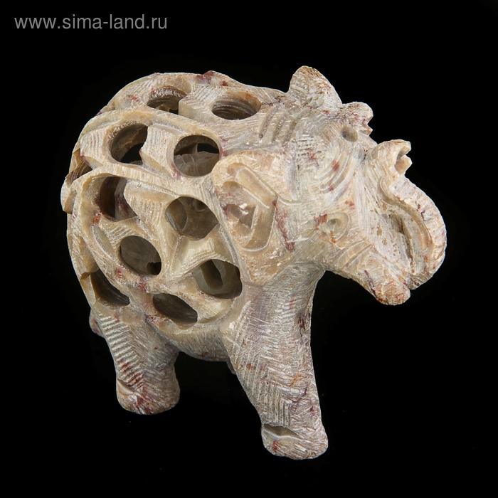 """Сувенир """"Слон"""" резной, из камня"""