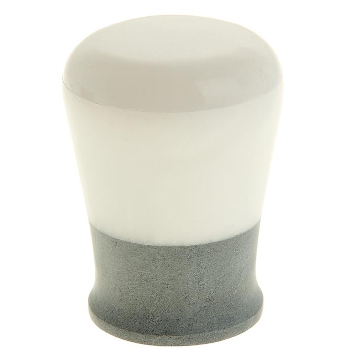 "Шкатулка для ватных дисков и салфеток ""Белый мрамор"""