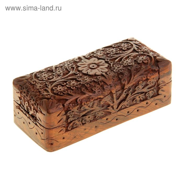 """Шкатулка деревянная резная """"Сад"""""""