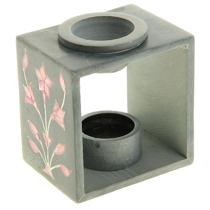 """Аромалампа из камня """"Розовый цветок"""""""