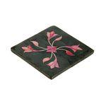 """Подставка для благовония из камня """"Розовый цветок"""" квадрат"""