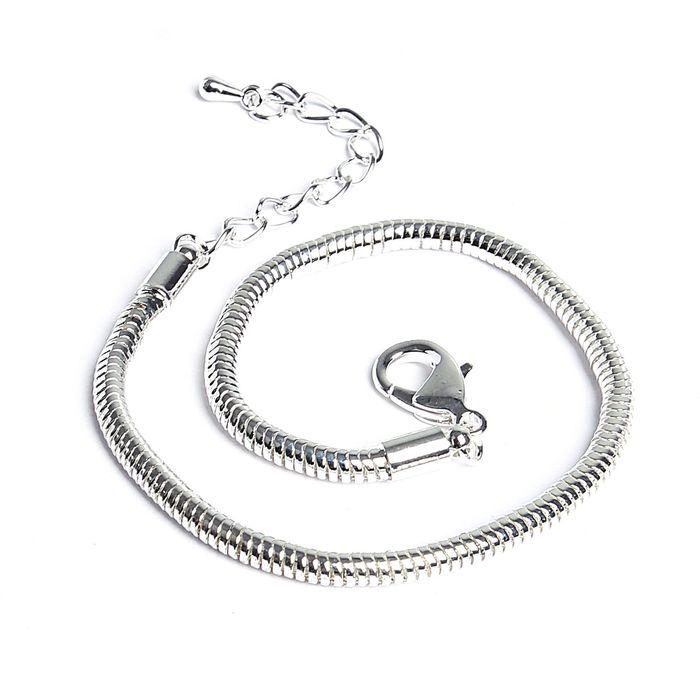 Основа-браслет 20 см, цвет серебро