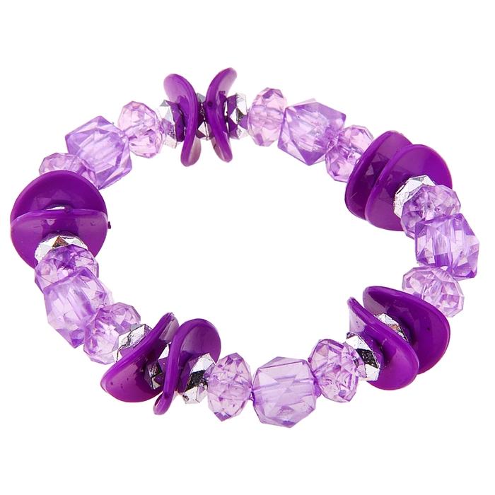 """Браслет """"Выбражулька"""" волна и лед, цвет фиолетовый"""