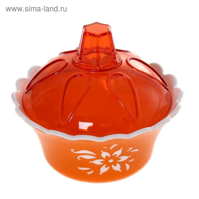 """Вазочка для варенья 200 мл """"Премьера"""", цвет оранжевый"""